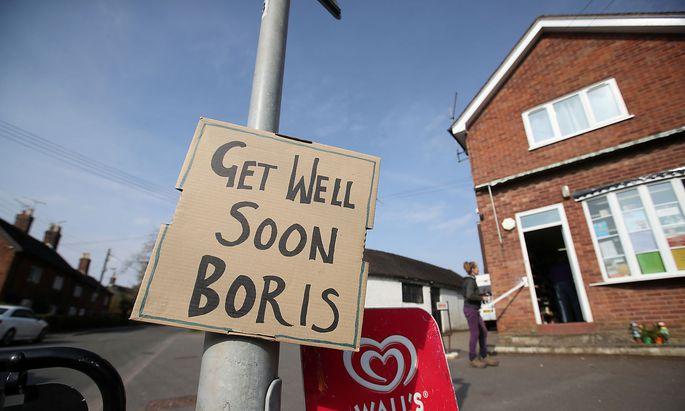 Ungeachtet der politischen Meinung: dem Premier wünschte man in ganz Großbritannein rasche Genesung.