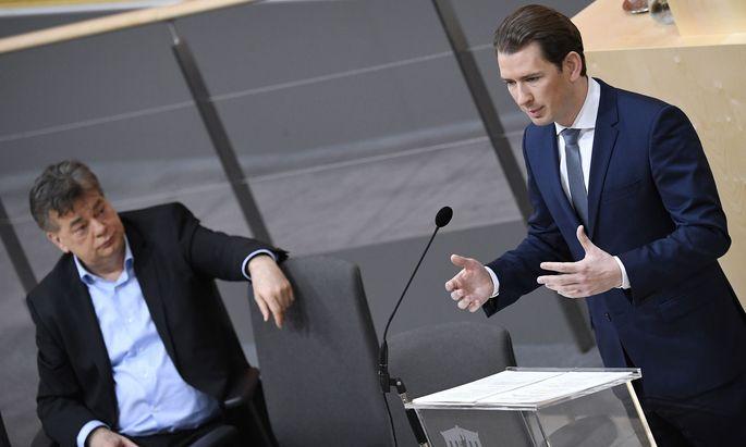 Kanzler Sebastian Kurz und Vizekanzler Werner Kogler.