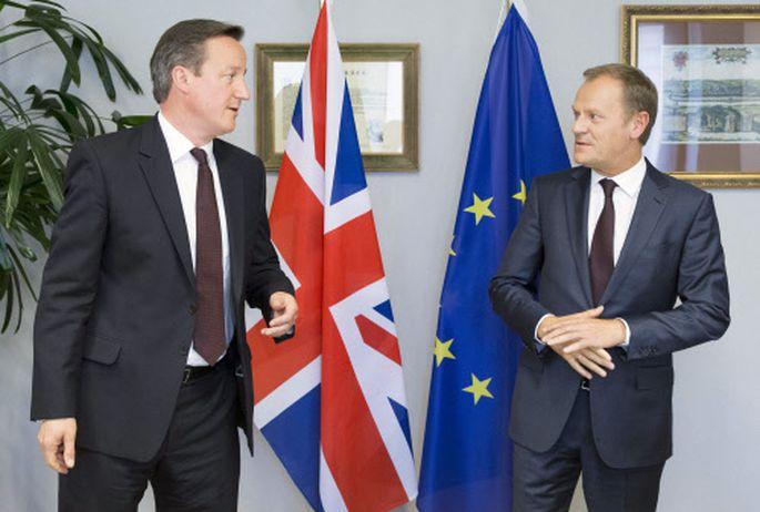 Premier Cameron und Ratspräsident Tusk.