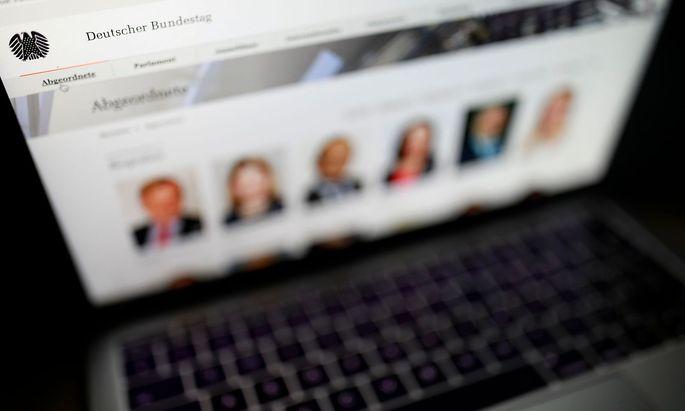 Archivbild: Die Website des Deutschen Bundestags