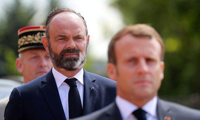 Premier Édouard Philippe mit dem französischen Präsidenten Emmanuel Macron