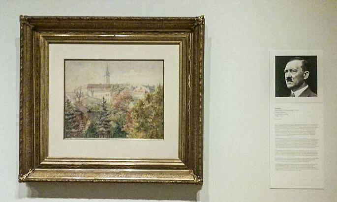 Die meisten von Hitler gemalten Bilder befinden sich in privaten Sammlungen. Hier ein Hitler-Bild aus dem Florence County Museum in den USA.