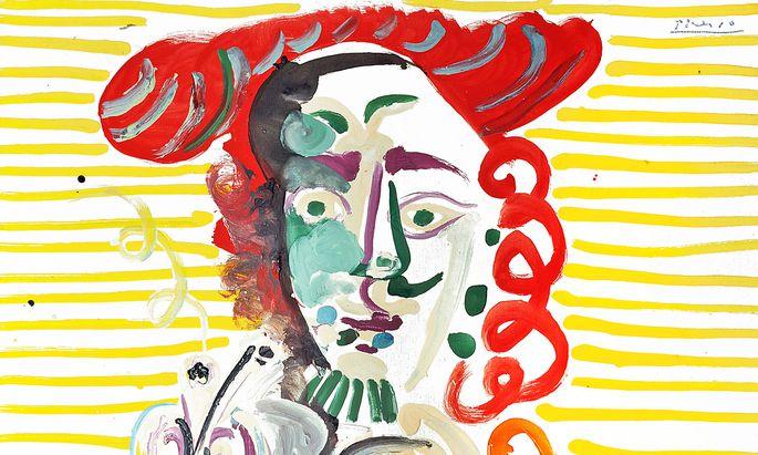 """""""L'Homme à la pipe"""" von Pablo Picasso ist eines der Topwerke in der Verkaufsausstellung von Sotheby's in Palm Beach."""