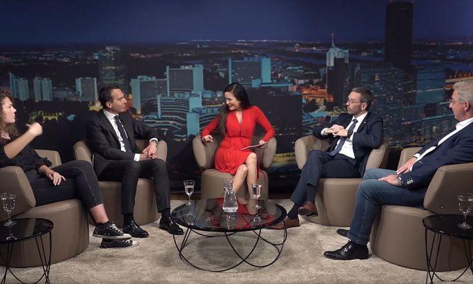 """Politische TV-Diskussionen allerorts: Neurdings auch """"Live im krone.tv-Studio""""."""