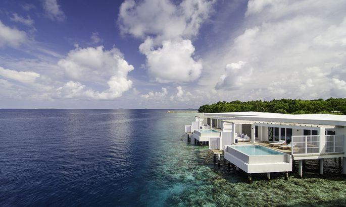 Amilla-Fushi-Ressorts auf den Malediven.