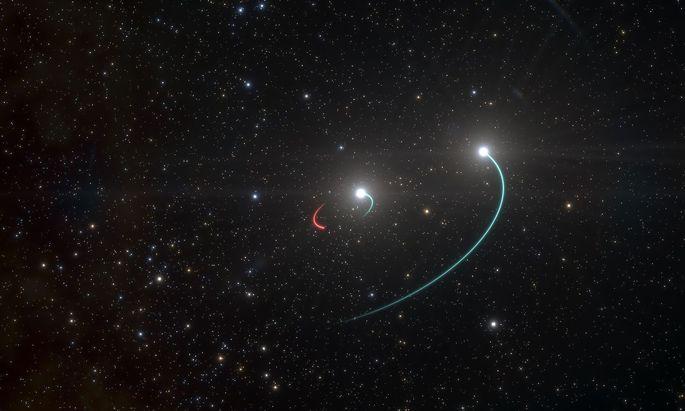 Eine Visualisierung des Doppelsternsystems HR 6819