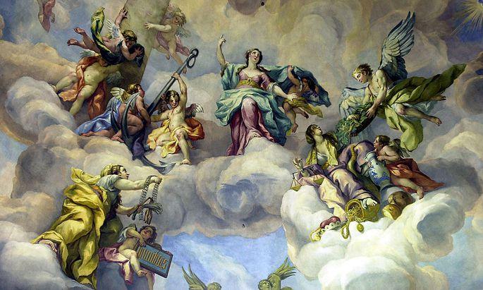 Fresko in der Wiener Karlskirche: Die Österreich glauben eher an Schutzengel als an Gott.