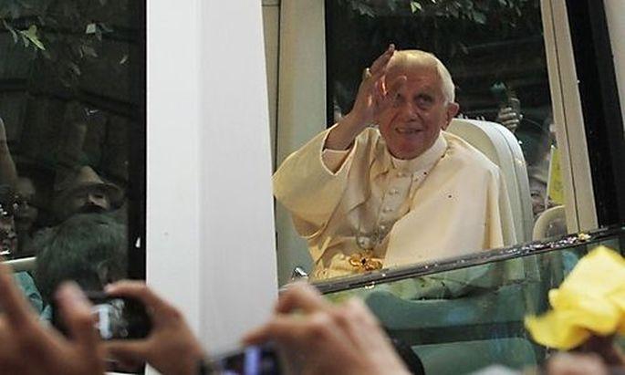Papst Benedict XVI in Guanajuato.