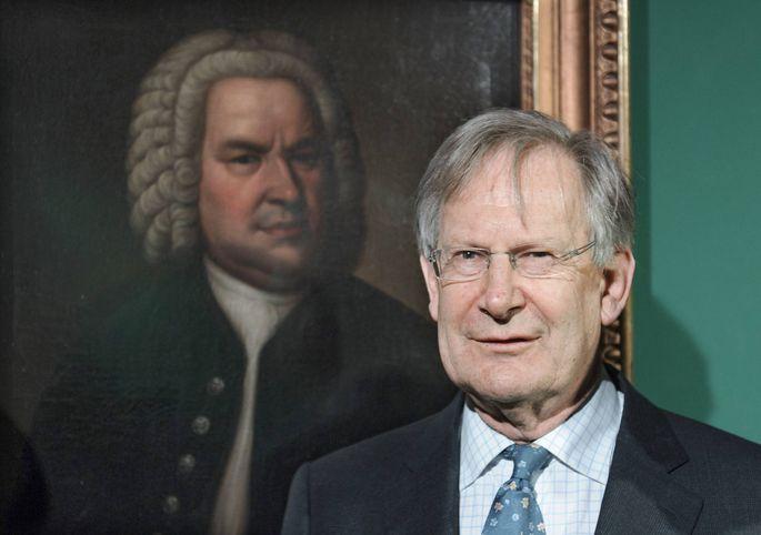 Sir John Eliot Gardiner am 13 02 2014 nach einer Pressekonferenz im Bach Museum in Leipzig vor einem