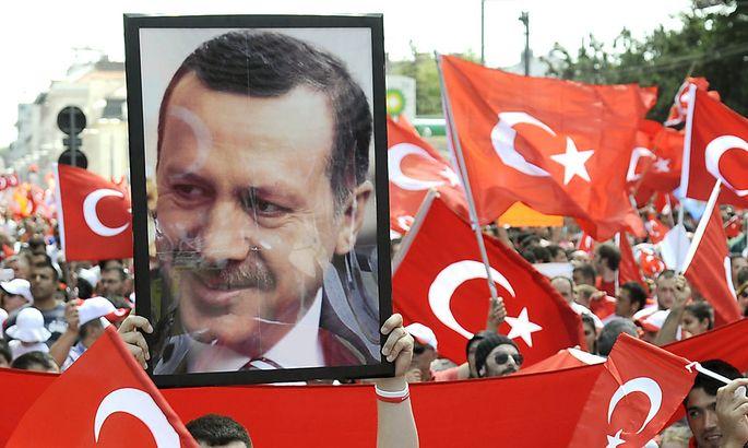 Ein Bild von der Pro-Erdoğan-Kundgebung am Wochenende in Wien