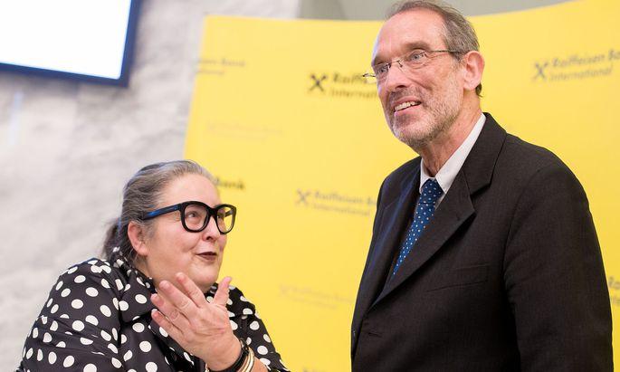 Präsidentin der Universitätenkonferenz Eva Blimlinger und Bildungsminister Heinz Faßmann (ÖVP)