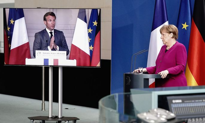 Emmanuel Macron und Angela Merkel preschten mit ihrem 500-Milliarden-Plan vor und riefen damit in der EU auch viel Gegenwind hervor.