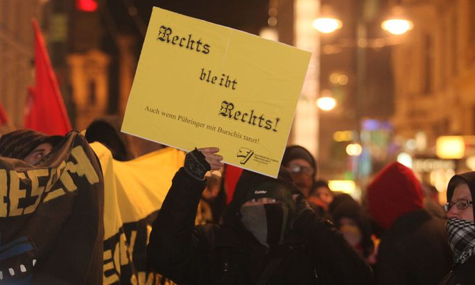 Archivbild: Proteste in Linz