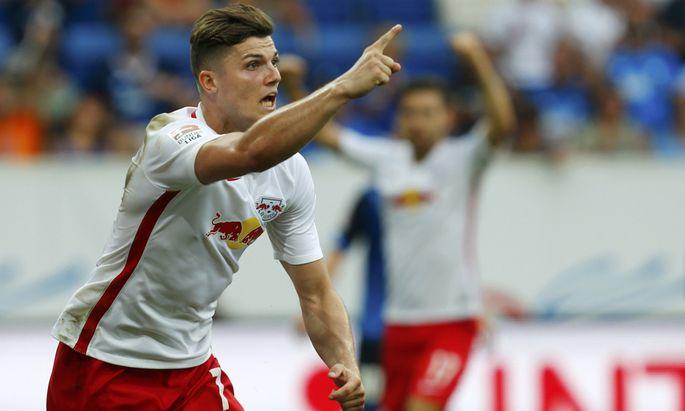 Marcel Sabitzer beim Spiel RB Leipzig gegen Hoffenheim.