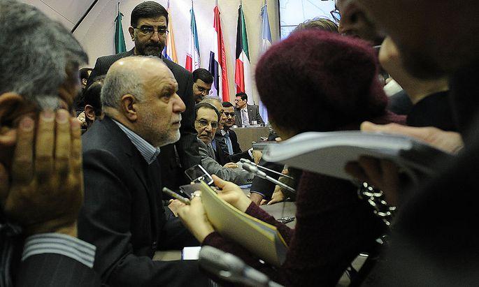 Belagert: Irans Ölminister Bijan Namdar Zangeneh in Wien