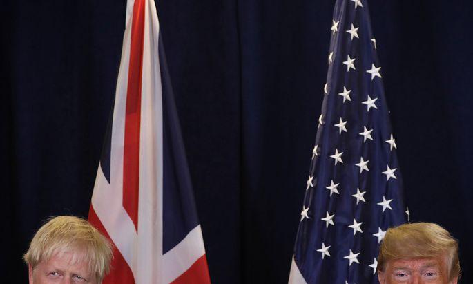 Unwillkommene Wertschätzung: Im Wahlkampf braucht Boris Johnson die Lobeshymnen Donald Trumps nicht.