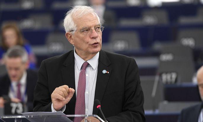 Josep Borrell will eine militärische Lösung nicht ausschließen.