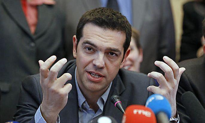 Alexis Tsipras, Parteichef der linken Partei Syriza