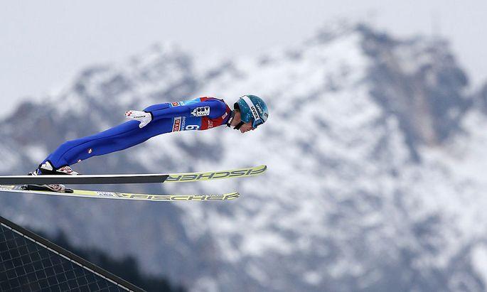 Garmisch: Skispringen mit Kulisse