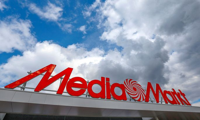 FILE PHOTO: The logo of the electronics retailer Media Markt is seen at the entrance of a shop in Sint-Pieters-Leeuw