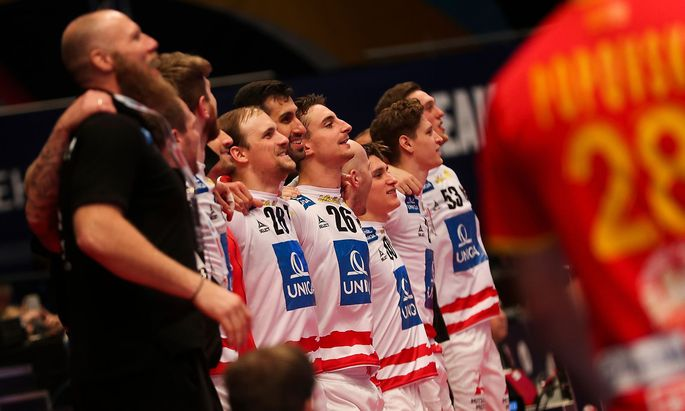 Österreichs Handballer überzeugten in der Vorrunde nicht nur spielerisch, sondern auch körperlich.