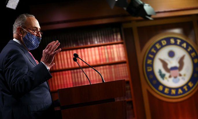 Archivbild: Der demokratische Fraktiosvorsitzende im Senat, Chuck Schumer.
