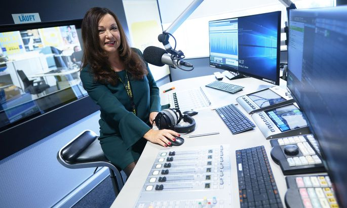 An den Reglern: Monika Eigensperger, Jahrgang 1959, FM4-Chefin seit 1999.