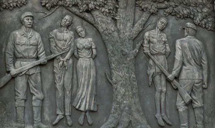 Bis zu drei Viertel der Herero kamen in den Kriegsjahren 1904 bis 1908 um: Denkmal im Zentrum der namibischen Hauptstadt Windhuk.