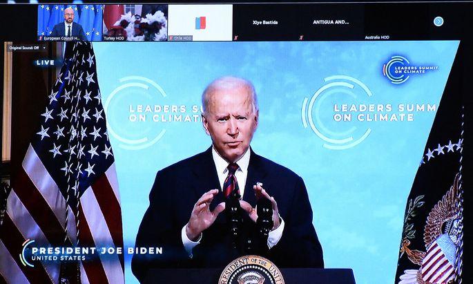 US-Präsident Joe Biden beim Online-Klimagipfel
