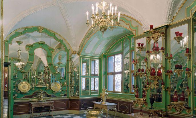 Eines der Zimmer im Grünen Gewölbe in Dresden.