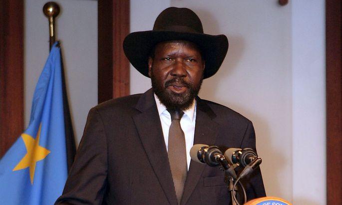 Der Mann mit dem Hut: Südsudans Präsident Salva Kiir ist nur selten ohne seine Kopfbedeckung zu sehen