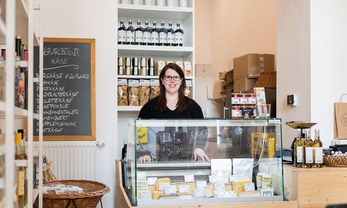 """""""Grundbira – also Kartoffeln – passen eben gut zu Spätzle"""", sagt Katrin Schedler. Ihr Ländle-Greißler befindet sich in Wien Margareten."""