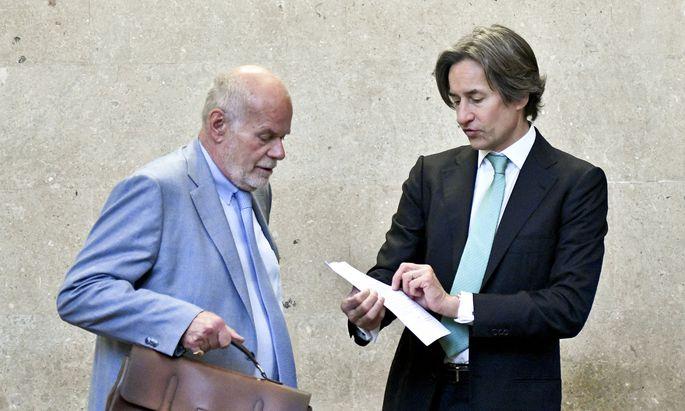 Manfred Ainedter und Karl-Heinz Grasser