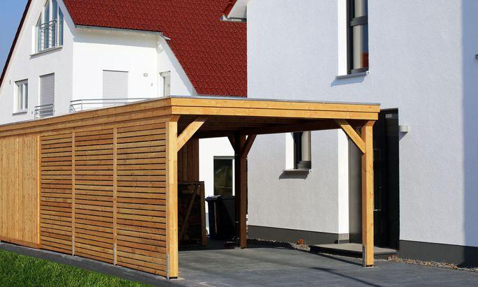 Holzkonstruktionen sind besonders in ländlichen Gegenden beliebt.