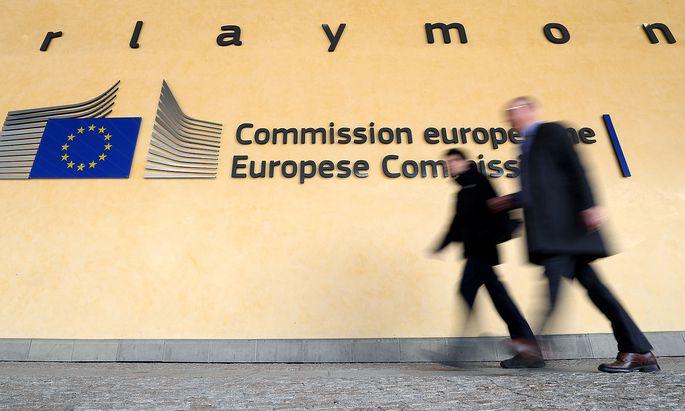 Vor dem Hauptquartier der EU-Kommission in Brüssel