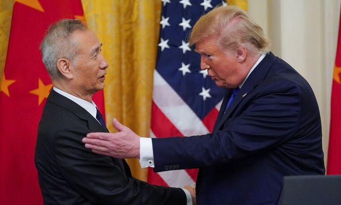 US-Präsident Donald Trump und Chinas Vizepremier Liu He