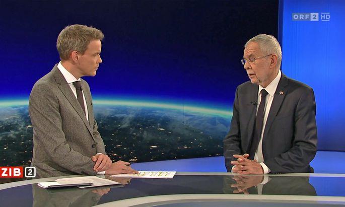 Bundespräsident Van der Bellen war einer der Gäste in einem wahren Interview-Marathon.