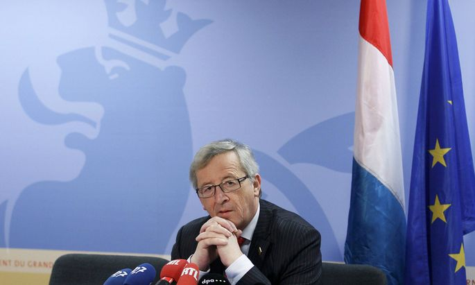 File photo of Luxembourg´s then-Prime Minister Juncker attending a news conference at the end of a European Union leaders summit in Brussels