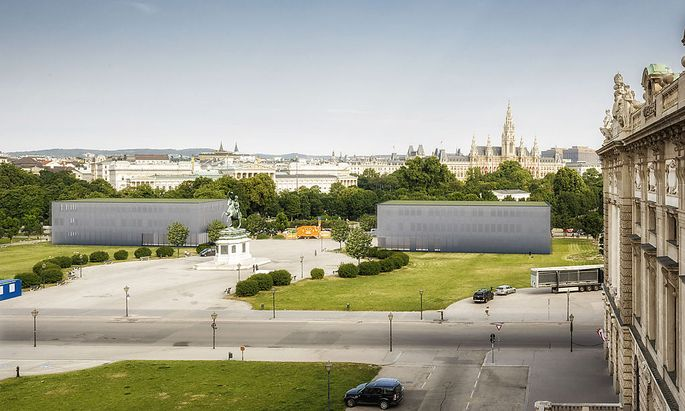 Parlamentsumbau: Erste Grabungsarbeiten auf dem Heldenplatz