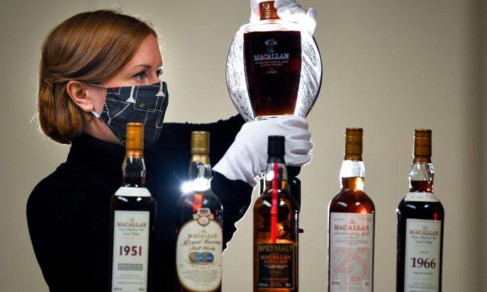 Eine Auswahl an begehrten Macallan-Flaschen.