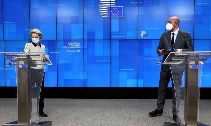 EU-Kommissionspräsidentin Ursula von der Leyen und EU-Ratspräsident Charles Michel.