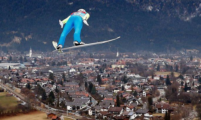 Stefan Kraft bei der Quali in Garmisch-Partenkirchen