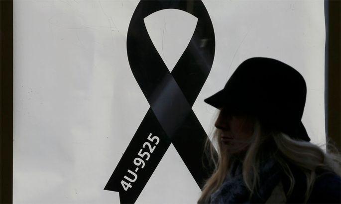 Gedenken an den abgestürzten Flug 4U-9525.