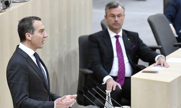 Christian Kern und Norbert Hofer machen sich für China stark