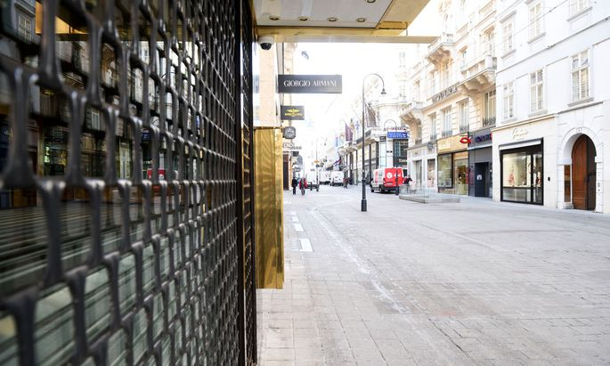 Wiens Straßen, menschenleer: So sah es während der Ausgangsbeschränkungen im März aus.