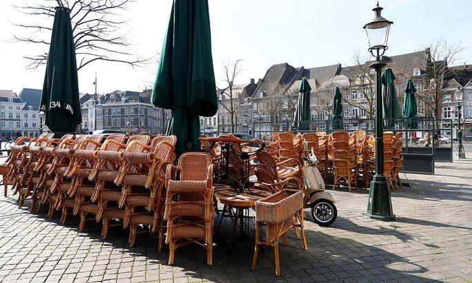 Restaurants und Geschäfte sind auch im niederländischen Maastricht, jene Stadt, in der 1997 der Schulden- und Stabilitätspakt der EU unterzeichnet wurde.