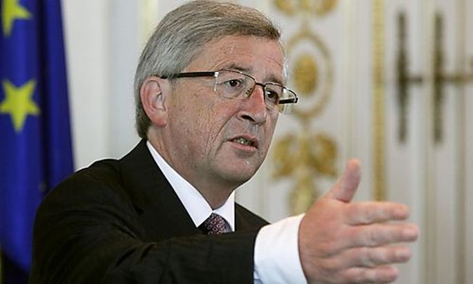 Luxembourgs Prime Minister Juncker makes a speech in Viennas Prime Minister Juncker makes a speech in Vienna