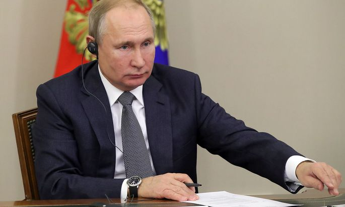 SOCHI, RUSSIA - DECEMBER 2, 2019: Russia s President Vladimir Putin during an official ceremony, via teleconference, to