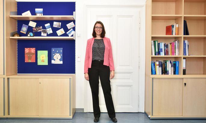 """Mit 35 Jahren ist Stefanie Höhl bereits Universitätsprofessorin. """"Die Entwicklungspsychologie ist meine Leidenschaft"""", sagt sie."""