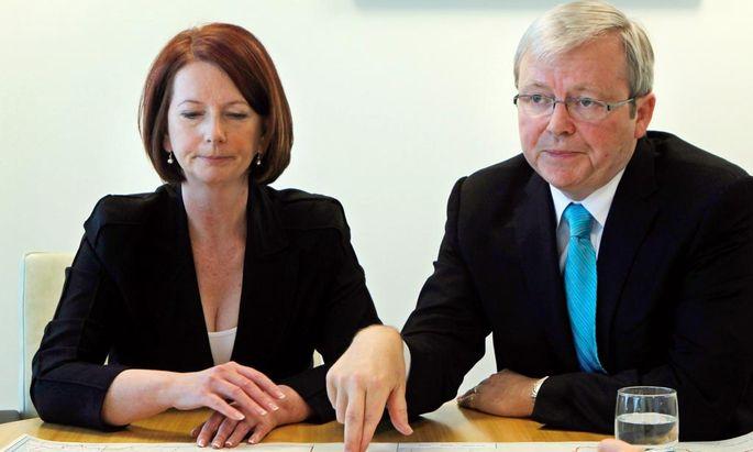Julia Gillard und Kevin Rudd